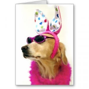 Golden Retriever Easter Princess - Fun Easter Greeting Card - Funny ...