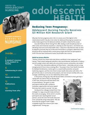 Teen Pregnancy Prevention