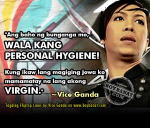 Funny Quotes Tagalog Vice Ganda Terms: vice ganda flip top