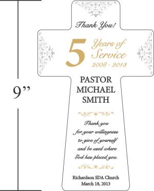 Pastor Appreciation Gift Plaque (#467-1)