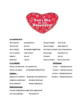 Spanish Valentine sayings