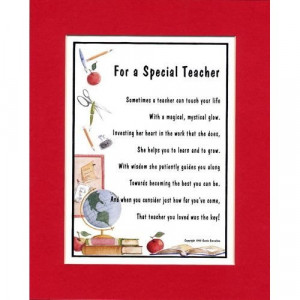 Special teacher poetry images