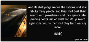 among the nations, and shall rebuke many people: and they shall beat ...