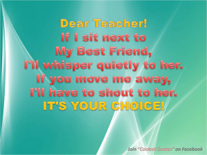 Dear Teacher Quotes!