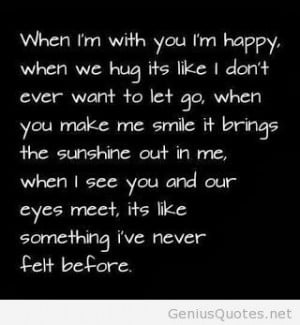 When Im with you Im happy quote