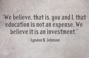 Lyndon B. Johnson #quote #education