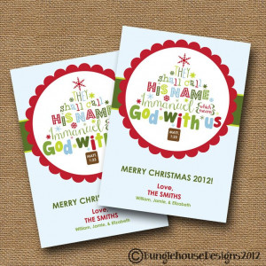 Image of christmas bible verses for cards