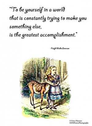 in Wonderland | Ralph Waldo Emerson Quotes | Inspirational Quotes ...