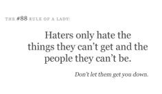 honestly don't care if you hate me. I'm not gonna hate you ...