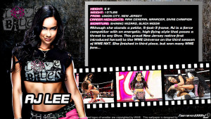 WWE AJ Lee ID Wallpaper Widescreen V2 by Timetravel6000v2