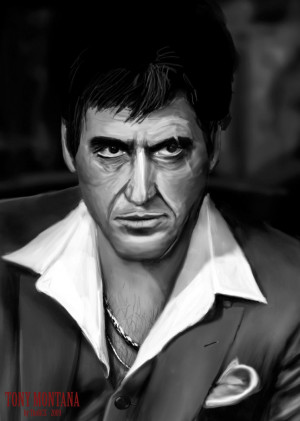 Tony_Montana___BW_by_thorcx