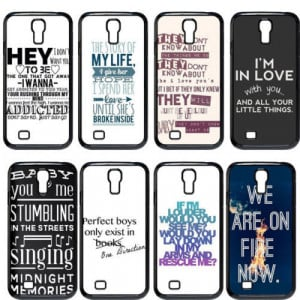 One Direction Lyrics Quote Hard Shell Case Cover For Samsung Galaxy S4 ...