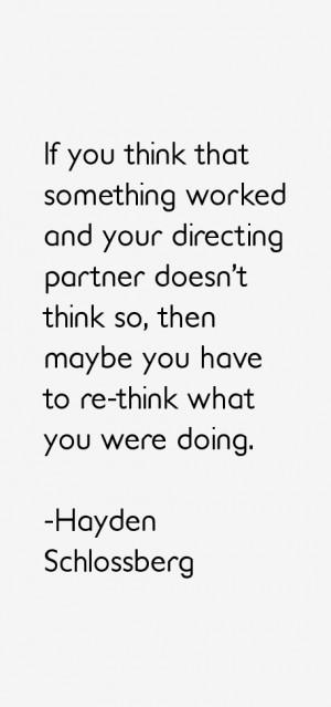 Hayden Schlossberg Quotes & Sayings