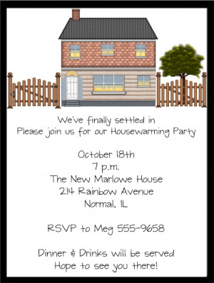 Shop our Store > Open House Housewarming Party Invitations