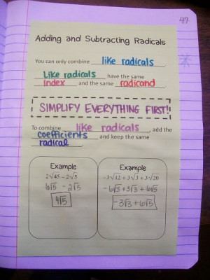 ... Math, Math Notebooks, Radical Radical, Teaching Math, Math Ideas, Math