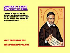 QUOTES OF SAINT VINCENT DE PAUL - 24-08-2012