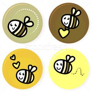 Cute Bee Outline