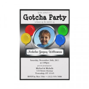 An adoption party invite. Great for introducing that new member of the ...