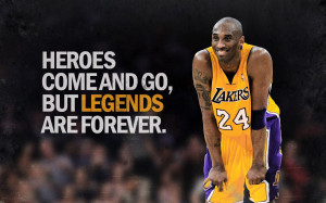 Famous Basketball Player Kobe Bryant Smile Face with Thought Wallpaper