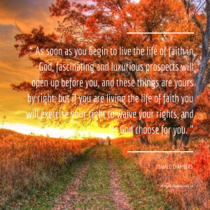 Image of Oswald Chambers quote