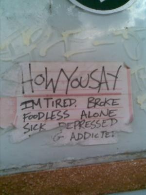 Poster - how you say I am tired and foodless