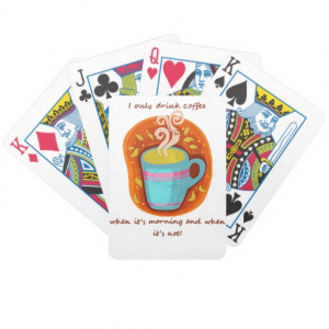 Funny Coffee Addict Quote or Saying Card Deck