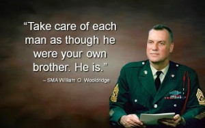 Take care of each man as though he were your own brother. He is ...