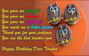 happy birthday wishes teacher Happy Birthday wishes for Teacher ...
