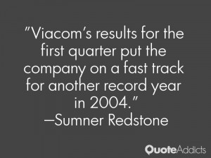Viacom's results for the first quarter put the company on a fast track ...