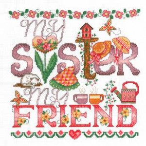 My Sister - Cross Stitch Pattern think i will just email this to my ...