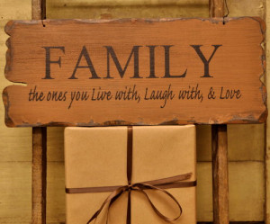 Wood Plank Hanging Sign-Family Sign,Hanging Family Sign,Signs Sayings ...