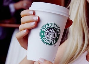 blonde, coffee, girl, starbucks