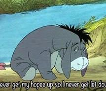 sad, disney, eeyore, winnie the pooh