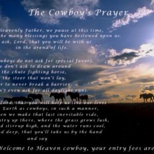 ... Quotes, Cowboycowgirl Prayer, Cowboy Cowgirls Prayer, Cowboy Prayer