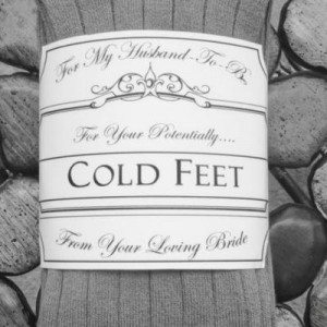 Cold Feet Gift For Groom {Gag Gifts}