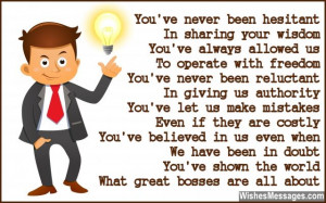 Thank You Poems for Boss: Notes to Say Thank You