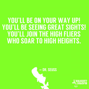 """... You'll join the high fliers who soar to high heights."""" ~ Dr. Seuss"""