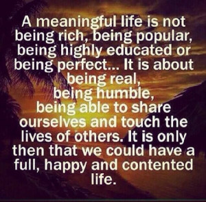Meaningful Life.....