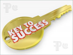 ... Key to Success symbolizing the secret to a successful career or life