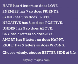 Choose Better Side Of Life: Quote About Choose Better Side Of Life ...