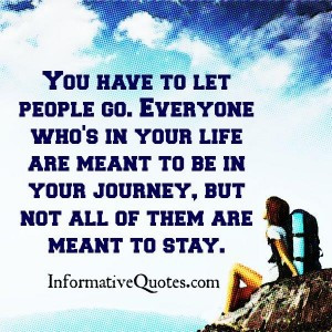 You have to let people go