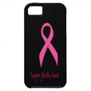 Pink Ribbon Hope Faith Love iphone 5 Case