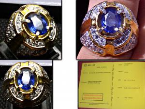 Cincin Batu Mulia dan Permata Blue Safir Ceylon Srilanka PE3.2 (SOLD ...
