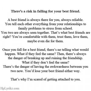 Best Friend Falling for your best friend Love quotes Pinterest