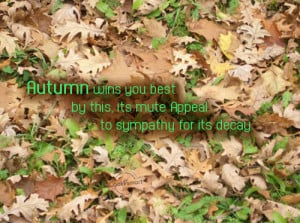 Autumn Quote: Autumn wins you best by this, its...