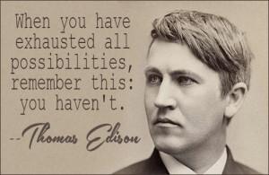 Related with Thomas Alva Edison Quotes