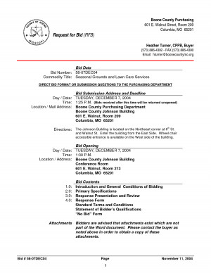 Lawn Care Contract Forms by bdr19656