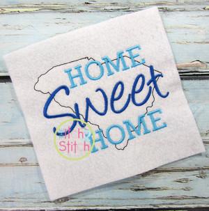Home Sweet Home South Carolina Embroidery
