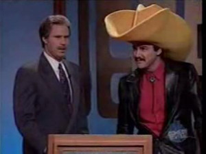 will ferrell on the left as alex trebek and norm macdonald on the ...