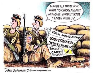Assault weapons political cartoons